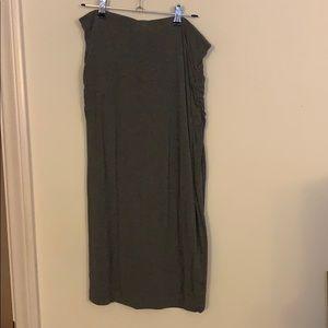 Caslon Grey Side Ruched Skirt